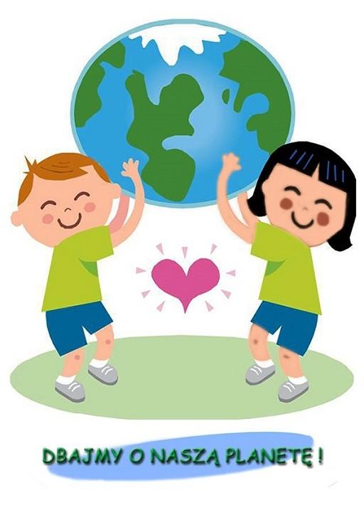 dzieci trzymające planetę - dbajmy o naszą planetę