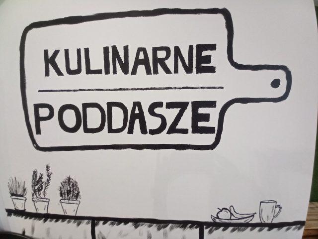 rysunek deski kuchennej z logo Kulinarne Poddasze
