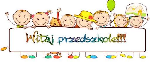 kolorowanka dzieci z napisem witaj przedszkole
